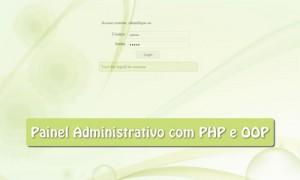 Painel de administração com PHP + OOP